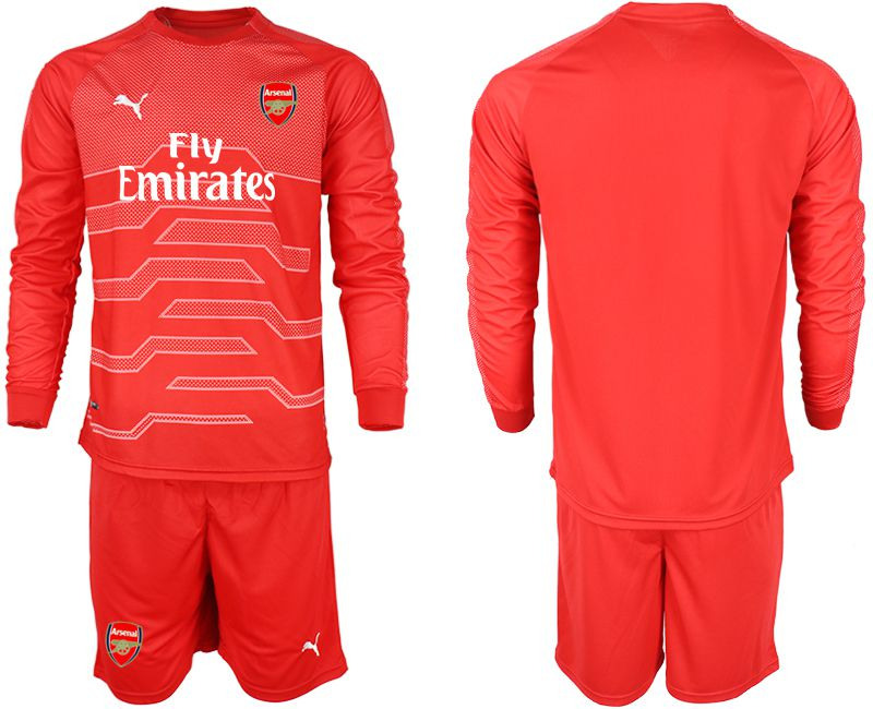 Men 2018-2019 club Arsenal red goalkeeper long sleeve Soccer Jerseys