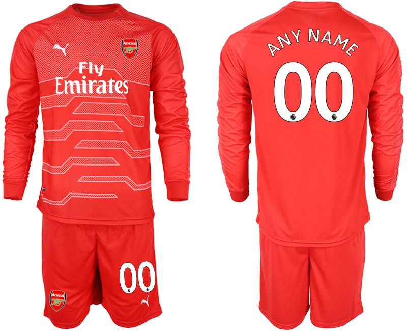 Men 2018-2019 club Arsenal red goalkeeper long sleeve customized Soccer Jerseys