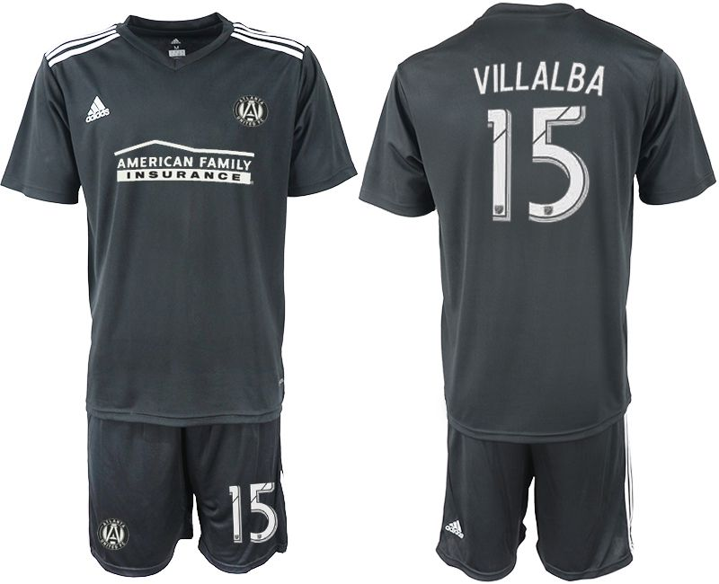 Men 2018-2019 club Atlanta United FC black 15 Soccer Jerseys