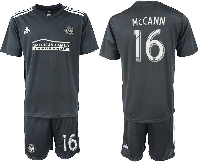 Men 2018-2019 club Atlanta United FC black 16 Soccer Jerseys