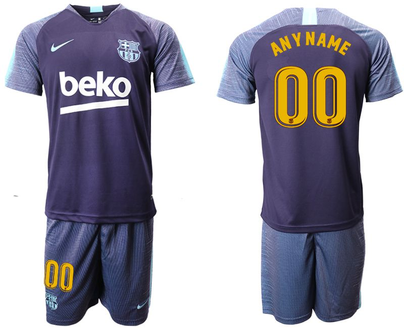 Men 2018-2019 club Barcelona dark blue training suit customized Soccer Jerseys