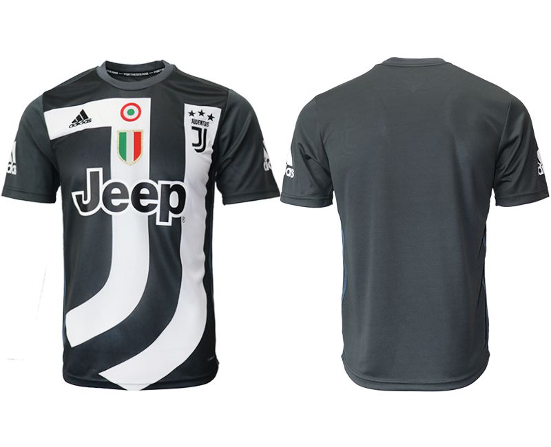 Men 2018-2019 club Juventus black training suit aaa version Soccer Jerseys