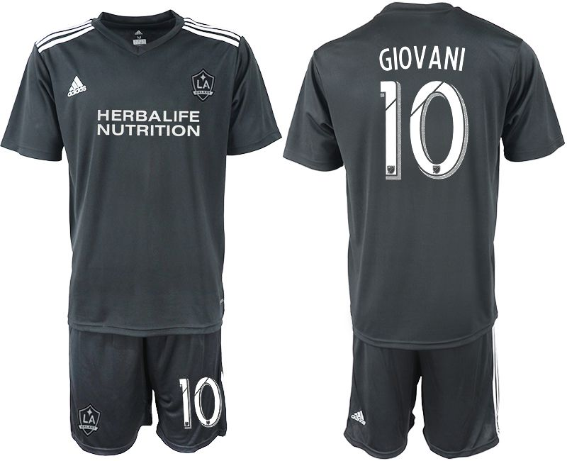 Men 2018-2019 club Los Angeles galaxy black training suit 10 Soccer Jerseys