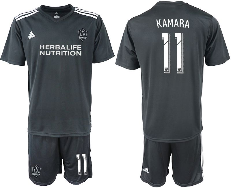 Men 2018-2019 club Los Angeles galaxy black training suit 11 Soccer Jerseys