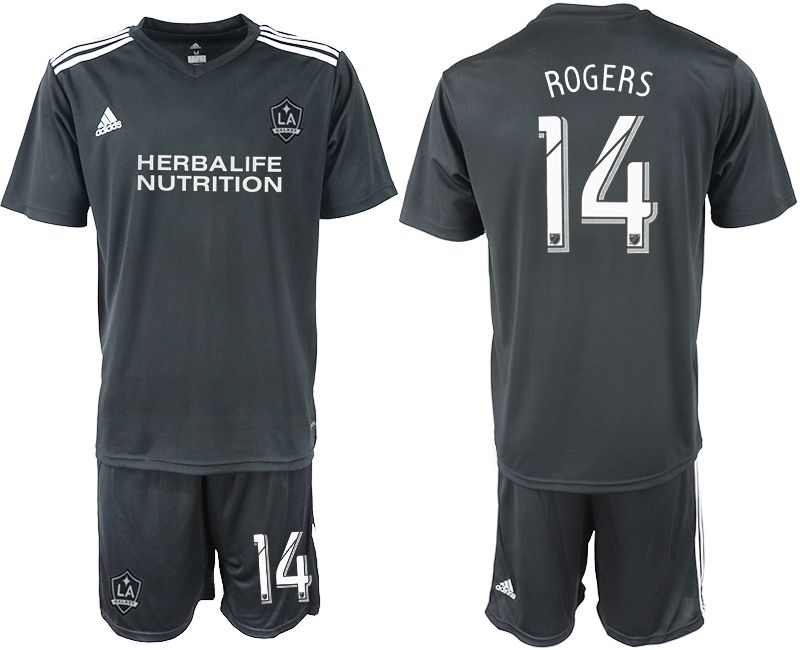 Men 2018-2019 club Los Angeles galaxy black training suit 14 Soccer Jerseys