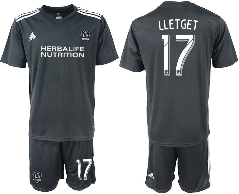 Men 2018-2019 club Los Angeles galaxy black training suit 17 Soccer Jerseys