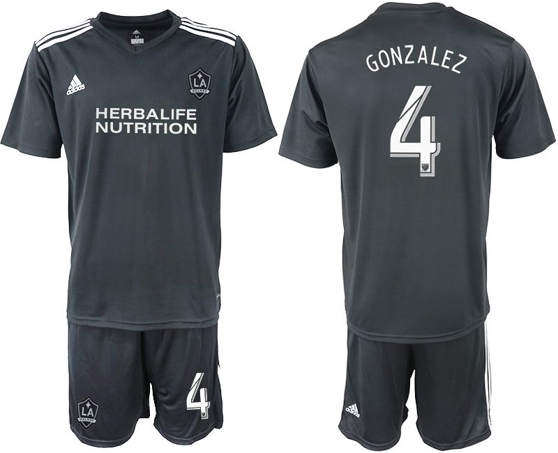 Men 2018-2019 club Los Angeles galaxy black training suit 4 Soccer Jerseys