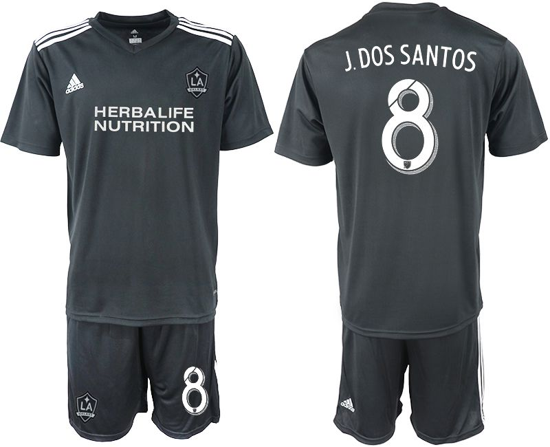 Men 2018-2019 club Los Angeles galaxy black training suit 8 Soccer Jerseys1