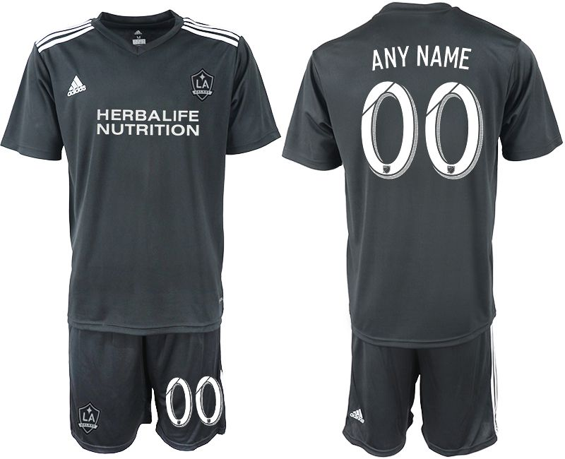 Men 2018-2019 club Los Angeles galaxy black training suit customized Soccer Jerseys