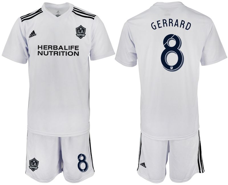 Men 2018-2019 club Los Angeles galaxy white training suit 8 Soccer Jerseys