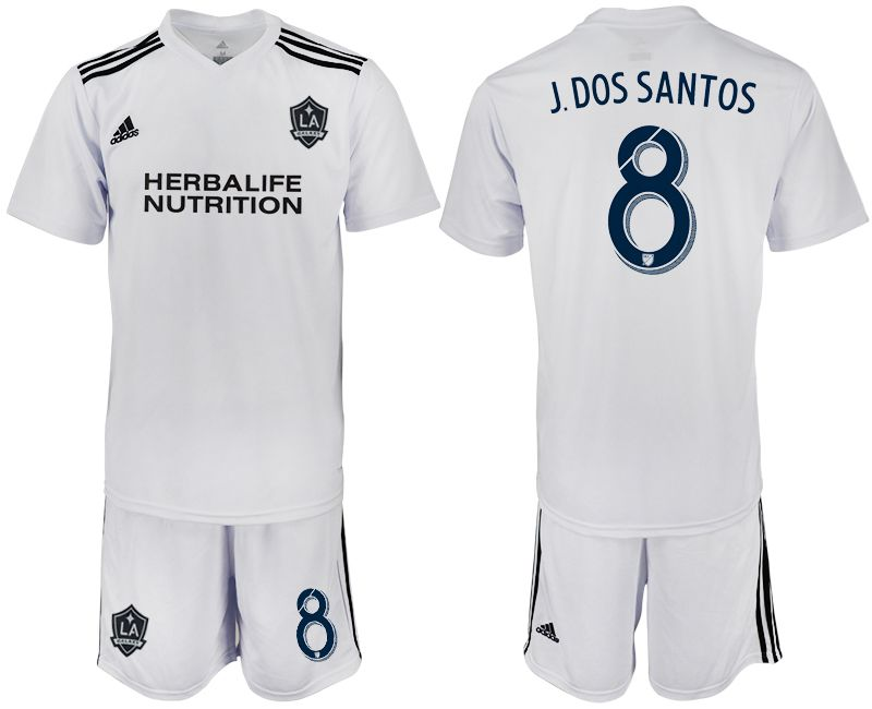 Men 2018-2019 club Los Angeles galaxy white training suit 8 Soccer Jerseys1