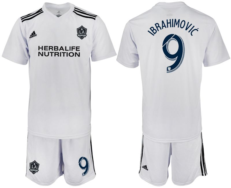 Men 2018-2019 club Los Angeles galaxy white training suit 9 Soccer Jerseys