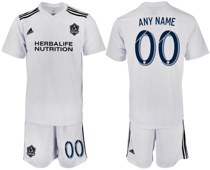 Men 2018-2019 club Los Angeles galaxy white training suit customized Soccer Jerseys