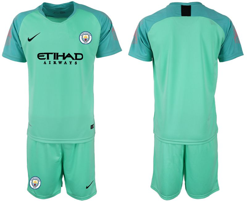 Men 2018-2019 club Manchester City FC green goalkeeper Soccer Jerseys