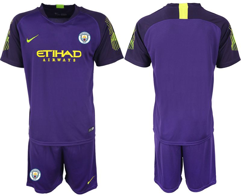 Men 2018-2019 club Manchester City FC purple goalkeeper Soccer Jerseys
