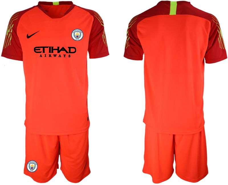 Men 2018-2019 club Manchester City FC red goalkeeper Soccer Jerseys