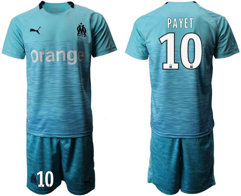 Men 2018-2019 club Olympique de Marseille away 10 green Soccer Jerseys