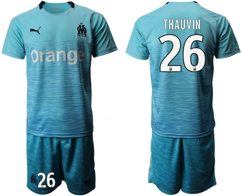Men 2018-2019 club Olympique de Marseille away 26 green Soccer Jerseys