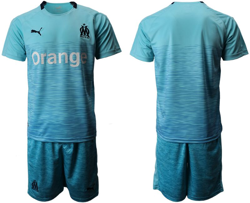 Men 2018-2019 club Olympique de Marseille away green Soccer Jerseys