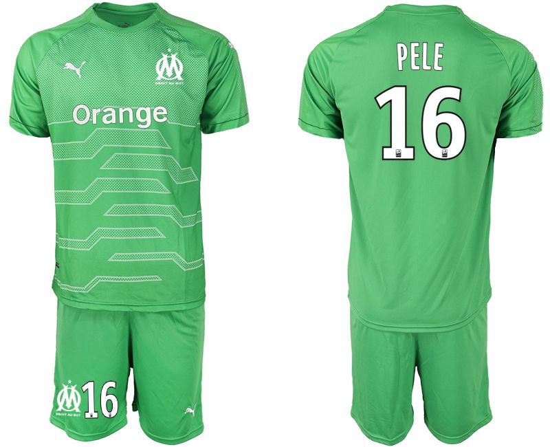 Men 2018-2019 club Olympique de Marseille green goalkeeper 16 Soccer Jerseys