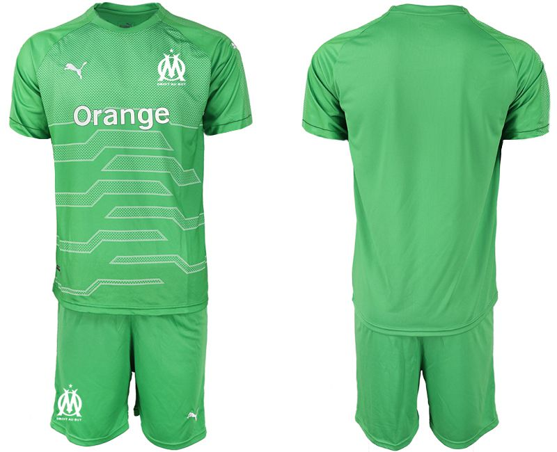 Men 2018-2019 club Olympique de Marseille green goalkeeper Soccer Jerseys