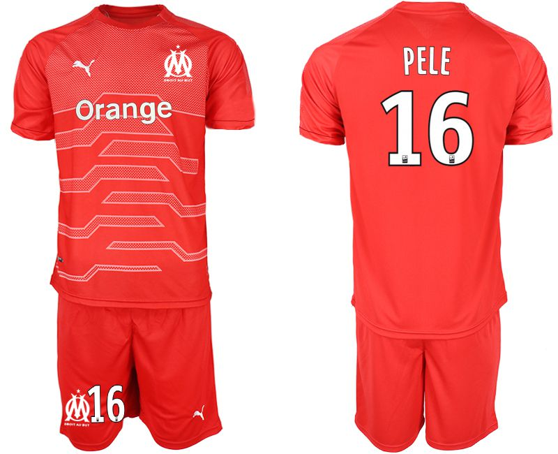 Men 2018-2019 club Olympique de Marseille red goalkeeper 16 Soccer Jerseys