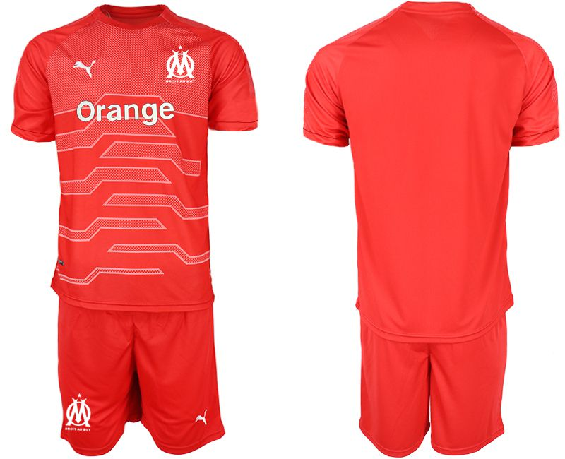 Men 2018-2019 club Olympique de Marseille red goalkeeper Soccer Jerseys