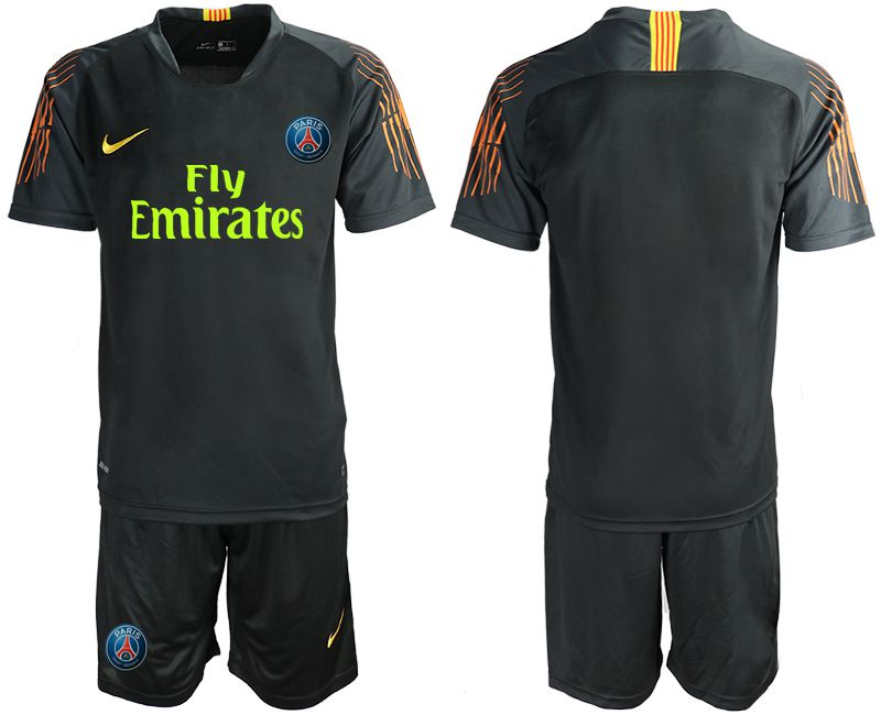 Men 2018-2019 club Paris St German black goalkeeper Soccer Jerseys
