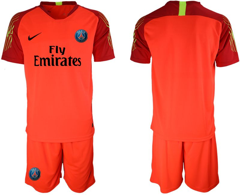 Men 2018-2019 club Paris St German red goalkeeper Soccer Jerseys