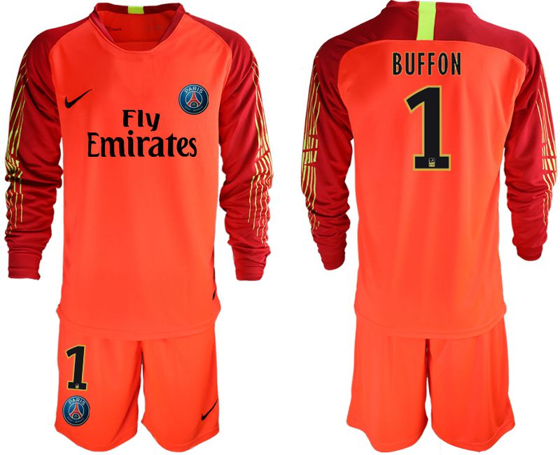 Men 2018-2019 club Paris St German red goalkeeper long sleeve 1 Soccer Jerseys