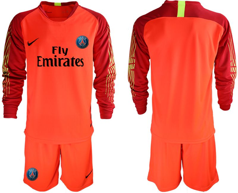 Men 2018-2019 club Paris St German red goalkeeper long sleeve Soccer Jerseys