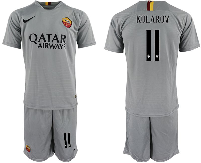 Men 2018-2019 club Rome away 11 grey Soccer Jerseys