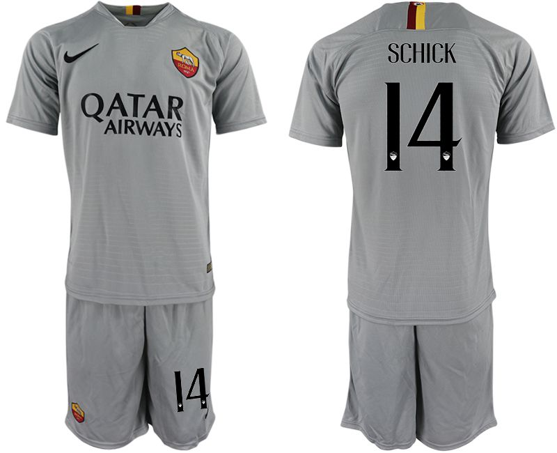 Men 2018-2019 club Rome away 14 grey Soccer Jerseys