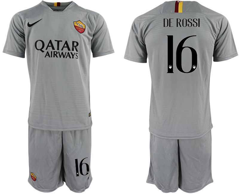 Men 2018-2019 club Rome away 16 grey Soccer Jerseys