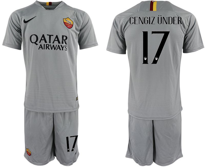 Men 2018-2019 club Rome away 17 grey Soccer Jerseys