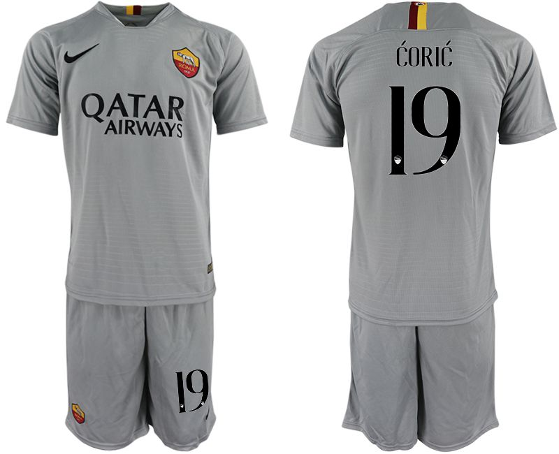 Men 2018-2019 club Rome away 19 grey Soccer Jerseys
