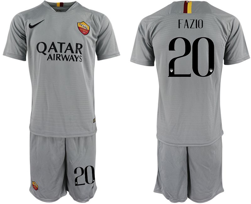 Men 2018-2019 club Rome away 20 grey Soccer Jerseys