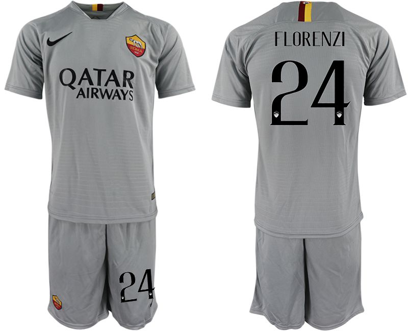 Men 2018-2019 club Rome away 24 grey Soccer Jerseys