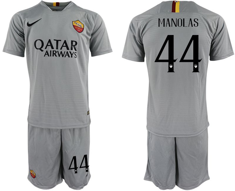 Men 2018-2019 club Rome away 44 grey Soccer Jerseys