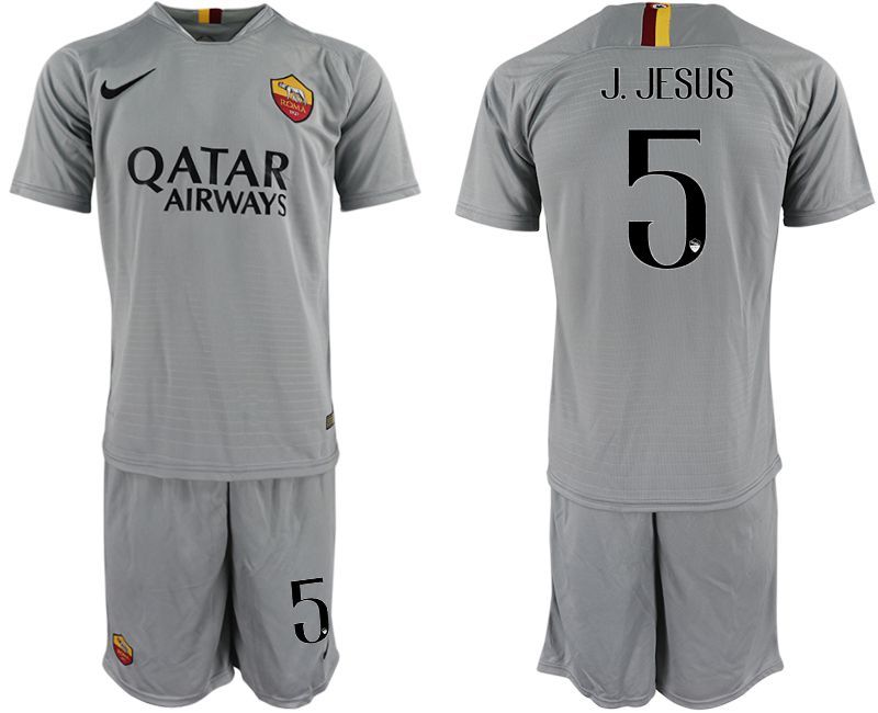 Men 2018-2019 club Rome away 5 grey Soccer Jerseys