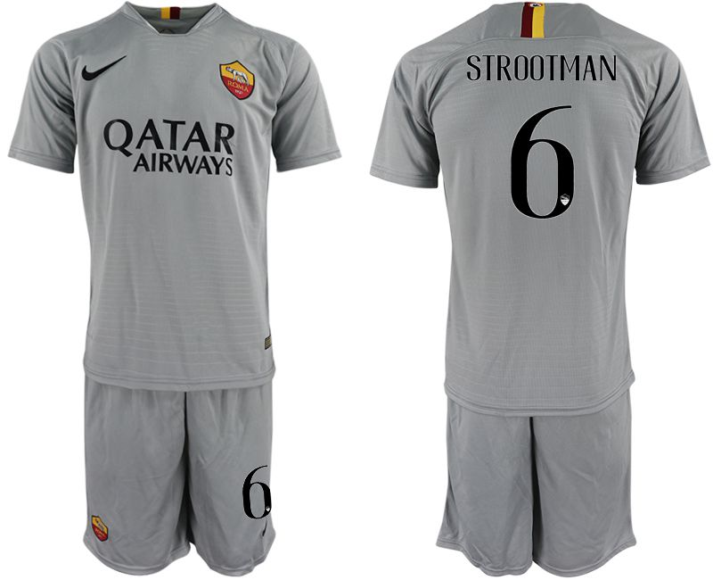 Men 2018-2019 club Rome away 6 grey Soccer Jerseys