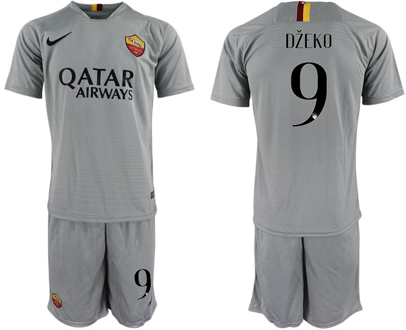 Men 2018-2019 club Rome away 9 grey Soccer Jerseys