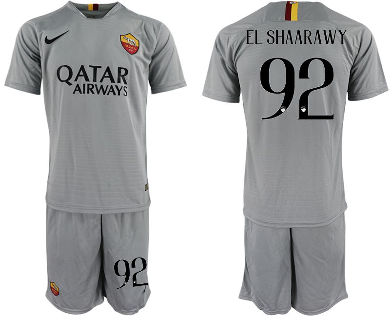 Men 2018-2019 club Rome away 92 grey Soccer Jerseys