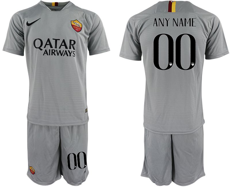 Men 2018-2019 club Rome away customized grey Soccer Jerseys