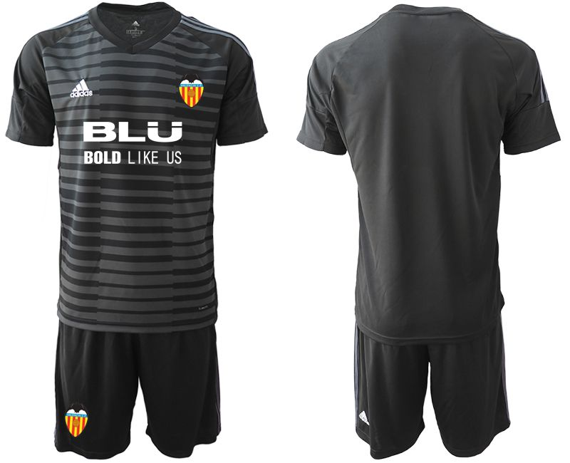 Men 2018-2019 club Valencia black goalkeeper Soccer Jerseys