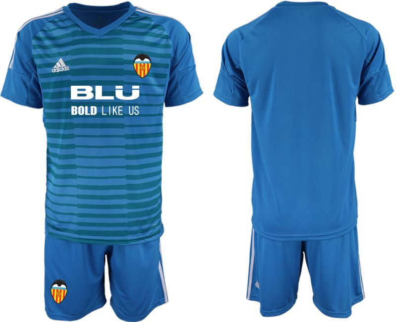 Men 2018-2019 club Valencia blue goalkeeper Soccer Jerseys