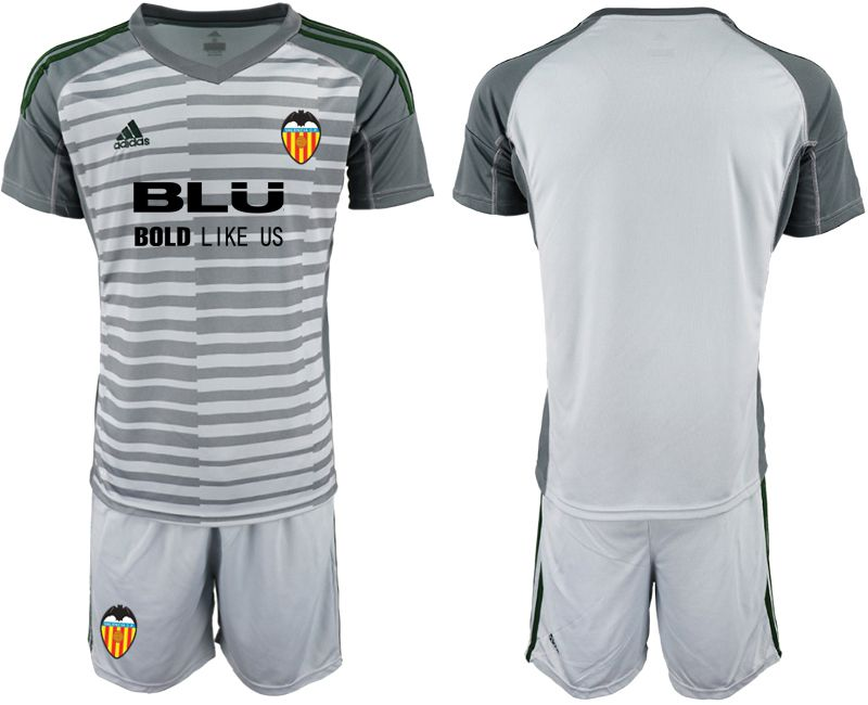 Men 2018-2019 club Valencia gray goalkeeper Soccer Jerseys