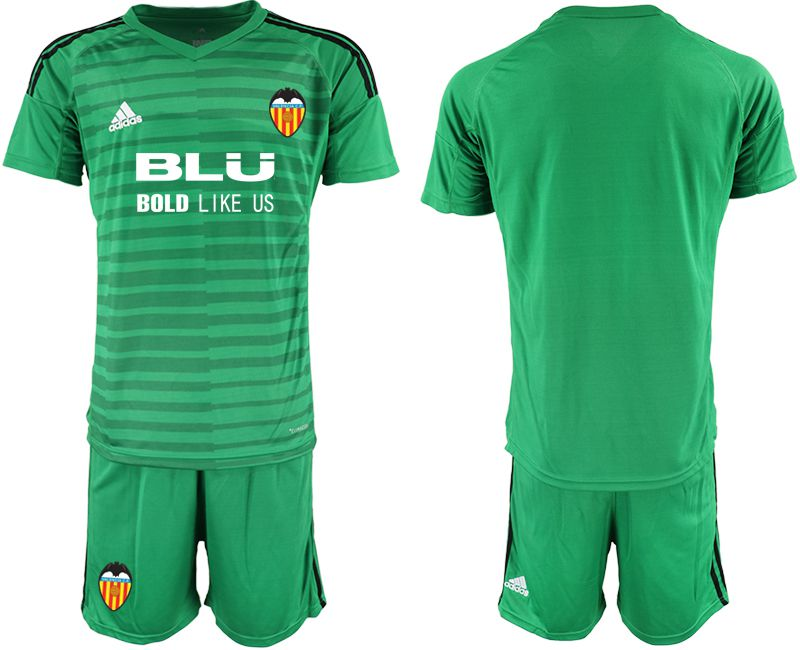 Men 2018-2019 club Valencia green goalkeeper Soccer Jerseys