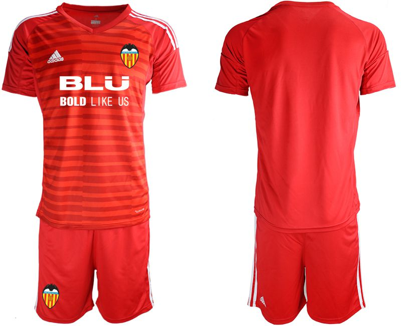 Men 2018-2019 club Valencia red goalkeeper Soccer Jerseys