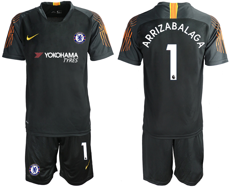 Men 2018_2019 Club Chelsea black goalkeeper 1 soccer jerseys